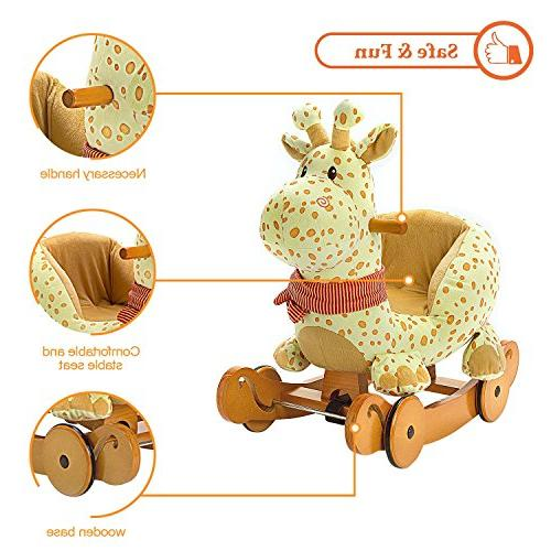Plush, Horse Stuffed, 2 in Yellow wheel Months, Rocking Horse/Rocker/Animal Ride/Deer Boy&Girl