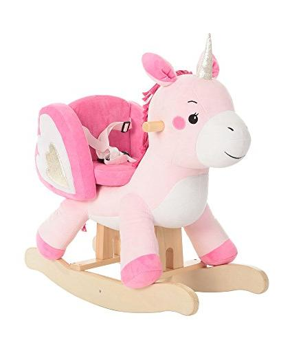 Labebe Unicorn Rocking Horse for Baby with Safety Belt, P