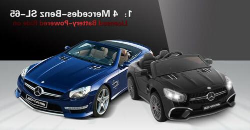 SL65 Kids Ride On Car Seat Licensed Mercedes MP3&Light
