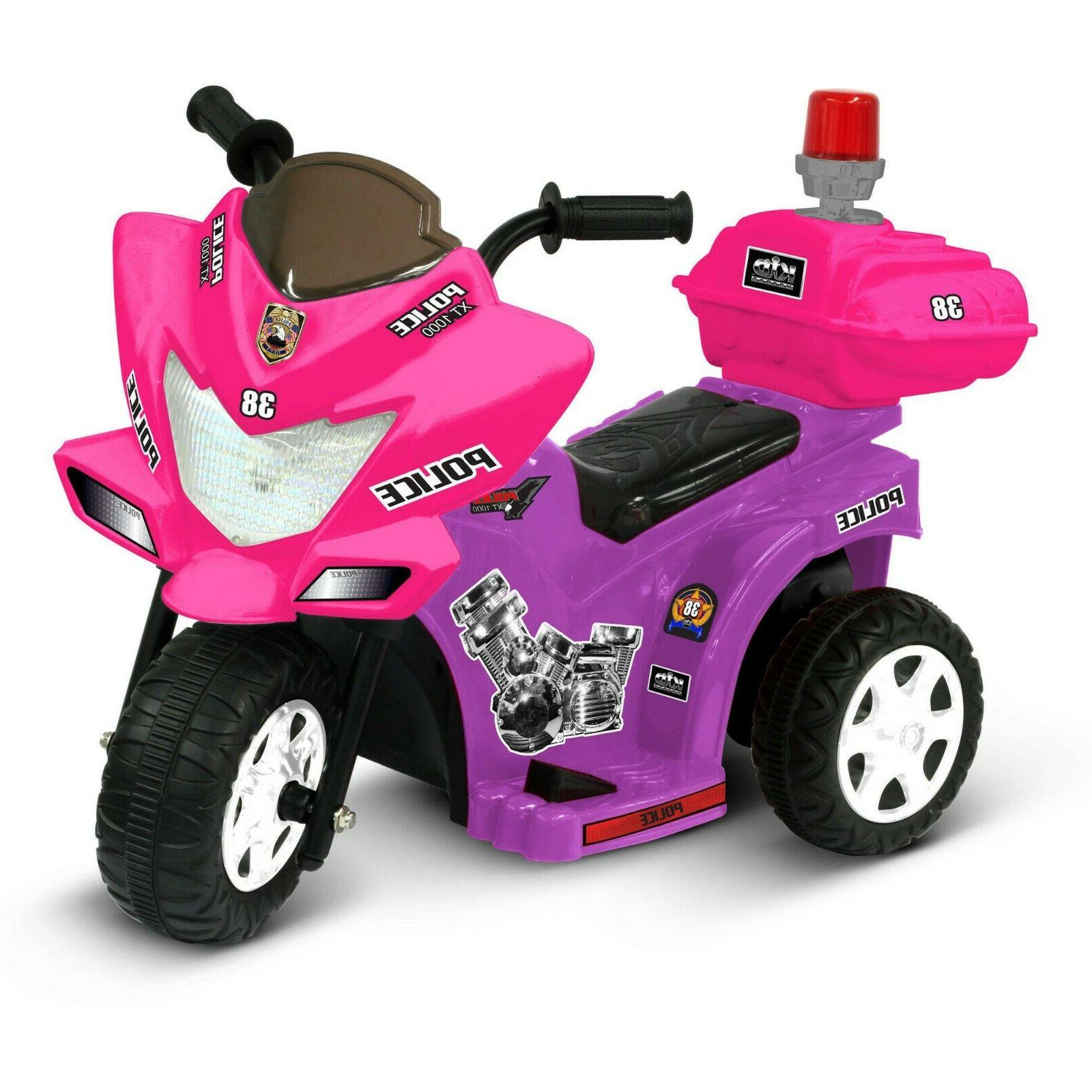 Baby Girls Electric Ride On Toy Pink Motorcycle Battery Powe