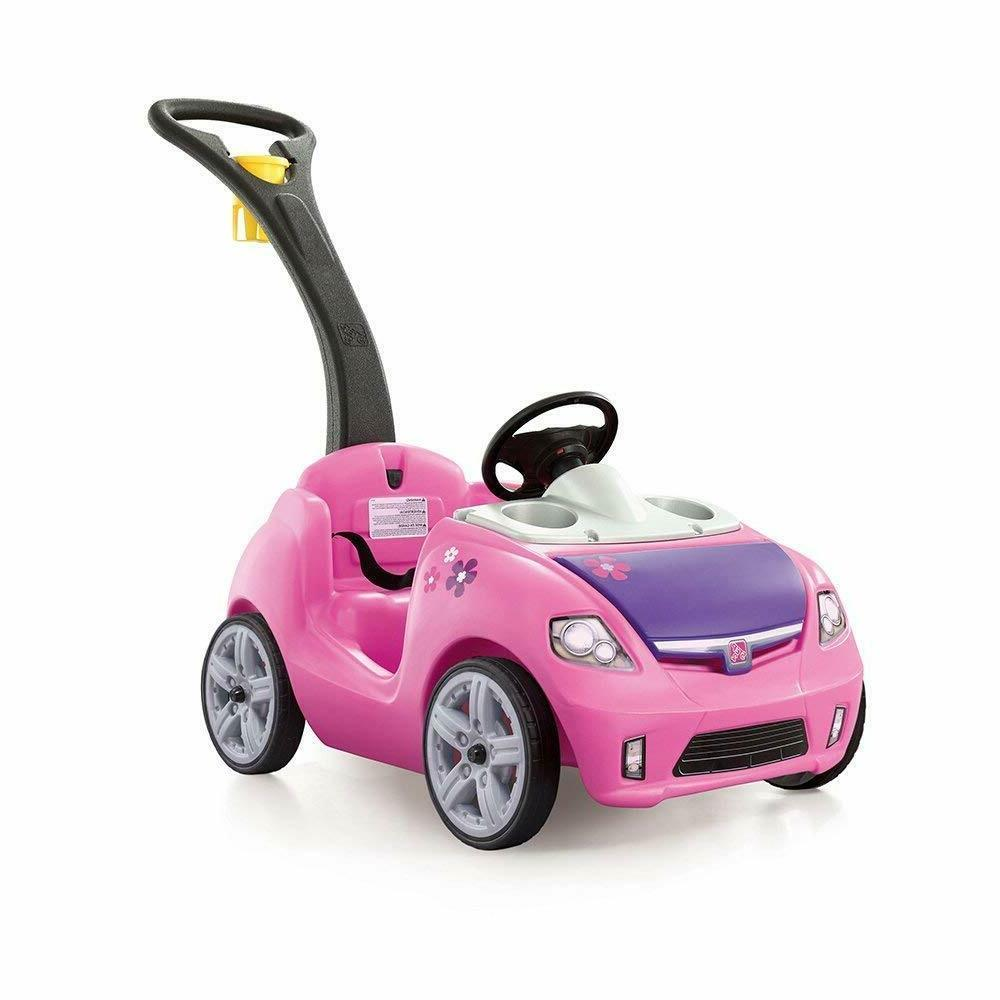 Step 2 Whisper Ride Cruiser In Pink On Toddler Push Car With