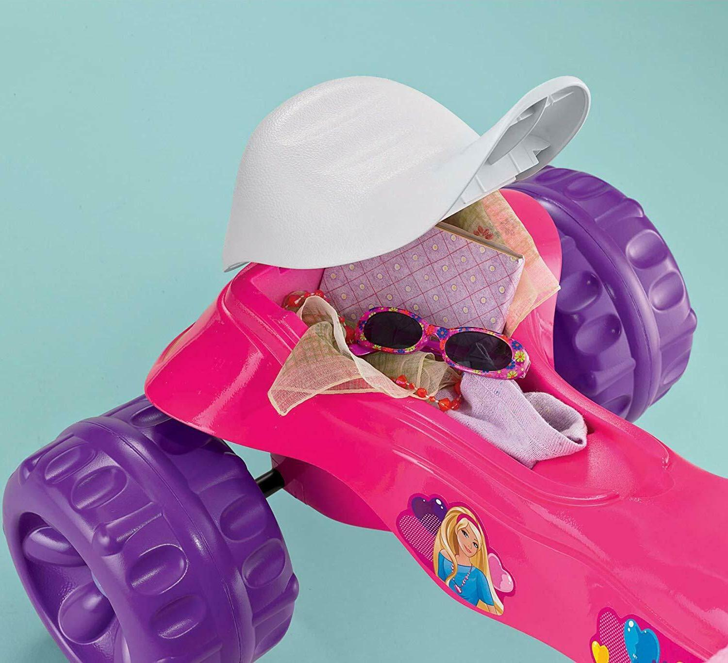 Toddler Learning On Trike Barbie Indoor Tricycle