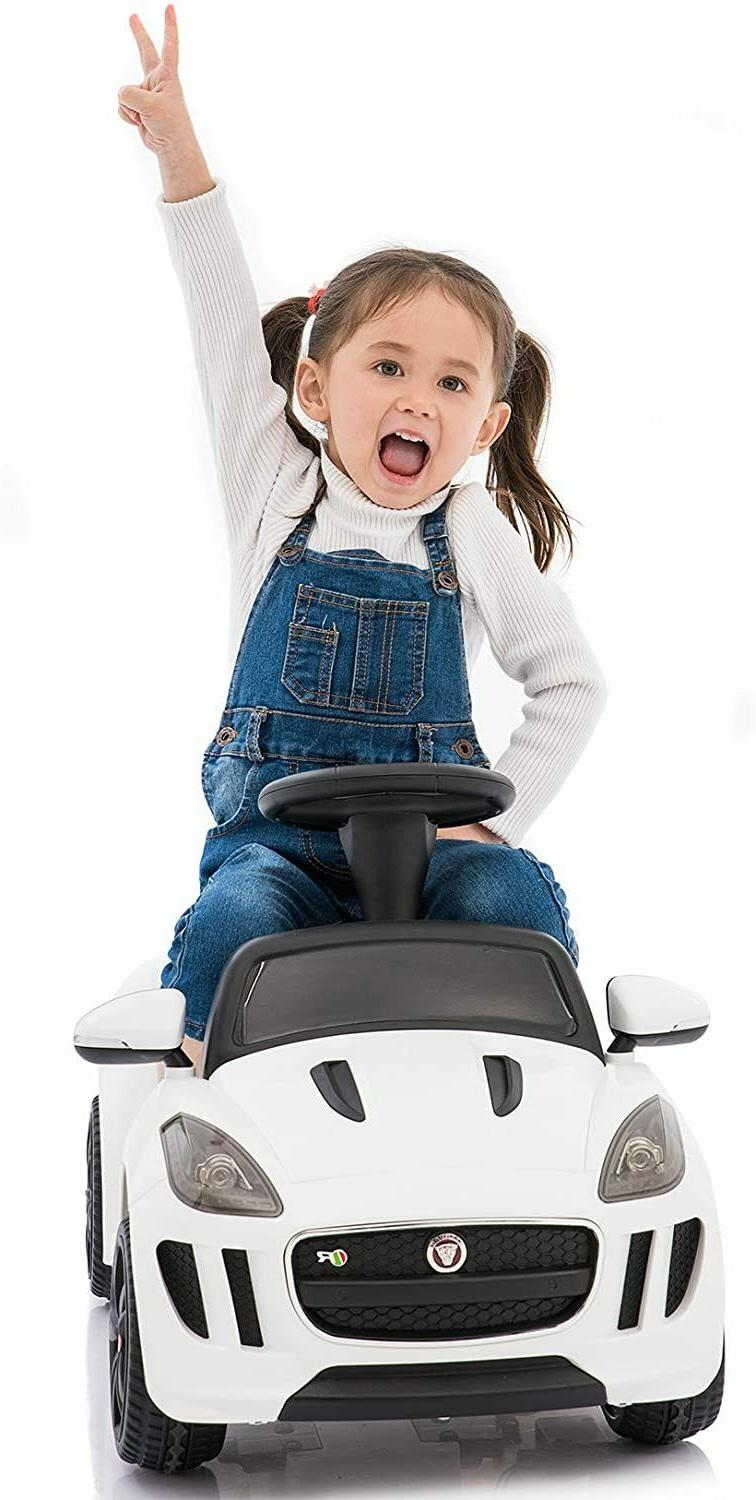 Toddler Ride 6V Push Car Remote Control Pedal Jaguar Music Horn