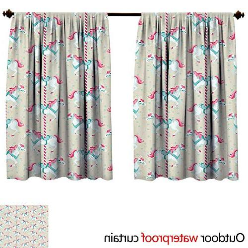 toy horsesun block curtain w96