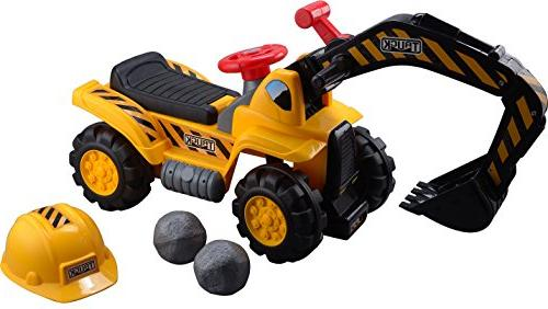 Play22 Tractors Kids On - Scooter - Ride Pretend Tractor Truck