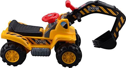 Play22 Toy Tractors for Kids Ride On - Music Scooter Tractor Toys Bulldozer Includes Helmet with - Ride Pretend Play - Toddler Tractor Construction