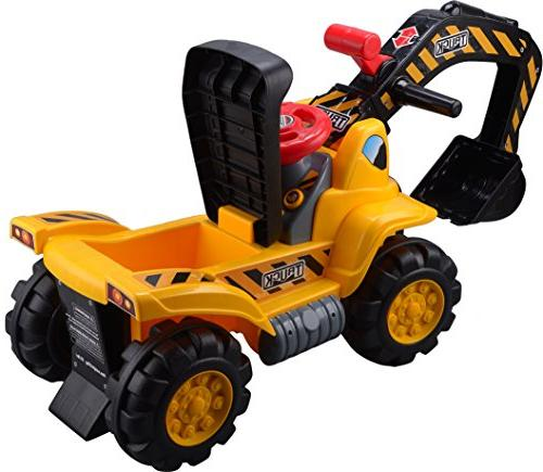 Play22 Toy Kids Scooter Includes Rocks - On Tractor Pretend Play - Toddler Tractor