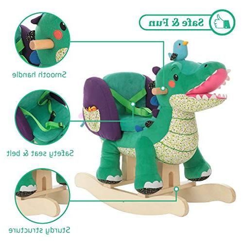 Labebe Toy, Animal Rocker, Green Toy Years, Wooden Rocking Chair/Child