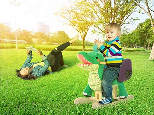Labebe Child Toy, Toy for 1-3 Years, Wooden Chair/Child Rocking Horse/Rocker/Animal on