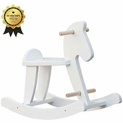 wooden rocking horse baby ride on toys