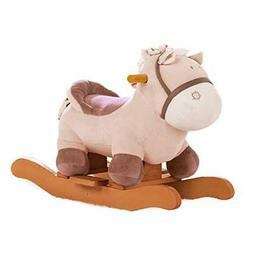 labebe - Baby Rocking Horse Plush, Kid Ride on Toys for 1-3