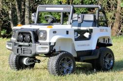First Drive Large Jeep - 2 Seater - 24v AWD Motor Kids Elect