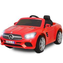 Uenjoy 12V Licensed Mercedes-Benz SL500 Kids Ride On Car Sin