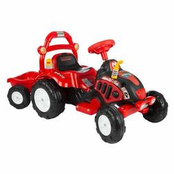 Lil' Rider Ride On Battery Powered Red Toy Tractor