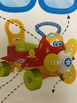 Lil' Rider Ride On Toy Airplane – Electronic Wheeled Scoot