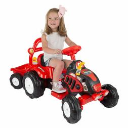 Lil' Rider Ride On Toy Tractor and Trailer, Battery Powered