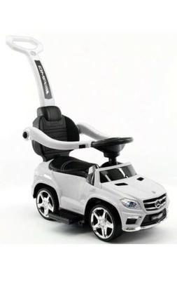 Luxury Ride On Car 4 In 1  Mercedes Benz Push Car  W/Lights