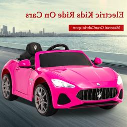 Maserati Cabrio Electric Kids Ride On Battery Toy Car with R
