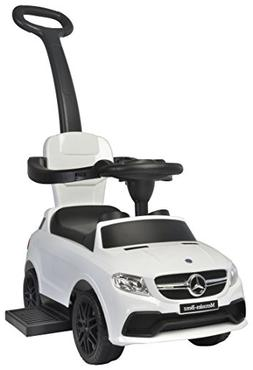 Best Ride on Car Mercedes 3 in 1 Push Car, White