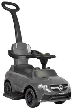 Best Ride On Cars Mercedes 3-in-1 Push Car in Black & grey N