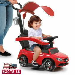 Mercedes Benz Kids Ride On Push Car Portable Riding Toy w/Mu