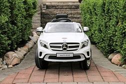 Mercedes-Benz GLA White Licensed Dual Motor 12V Kids Ride-On