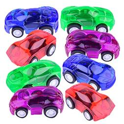Gbell Mini Pull Back Vehicles, Let it Go Plastic Fast Racing