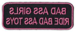 Motorcycle Biker Jacket/Vest Patch - Bad Ass Girls Ride Bad