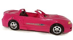 Ford Mustang Glam Pink Convertible Car for Dolls