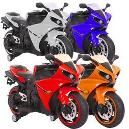 New LED 12V MOTORCYCLE KIDS RIDE ON Ninja SPORTS BIKE GIRLS,