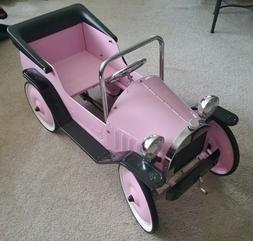 NOS PINK Pedal Car Jalopy Convertible Look Ride On Boys  Gir