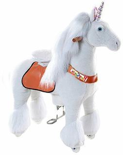 Official PonyCycle Unicorn Ride On Toy | Medium White Horse