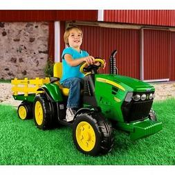 Outdoor Battery Powered 12V Ride On Toys Tractor John Deer T
