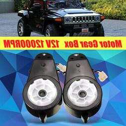 Pair Electric Motor Gear Box 12V 12000RPM Kid Ride On Car Ve