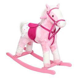 Peach Tree Rocking Horse Baby Kids Plush Toy Ride On Pony Ro