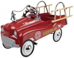 Pedal Fire Truck Cars Engine Kids Ride Toy Steering Wheel To