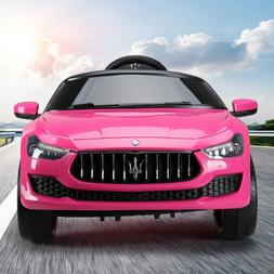 Pink 12V Maserati Ghibli Kids Gif Ride On Electric Toy Car w