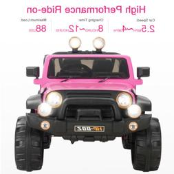 Pink 12V Powered Kids Ride on Toys Car Electric Battery w/Re