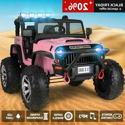 pink electric 12v battery kids ride on