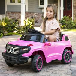 Pink Kids Girls Electric Ride On Car Truck SUV Toy Remote Pa