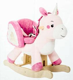 Labebe Pink Ride Unicorn Baby Rocking Horse,Ride On Toy