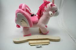 Labebe Plush Animal Baby Rocking Horse Ride Unicorn Rocker O