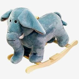Plush Animated Elephant Toy Rocking Animal Ages 2 - 5 Rockin