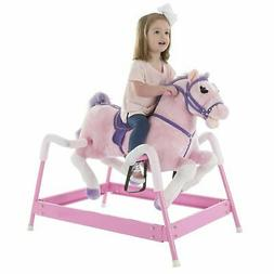Plush Pink Rocking Riding Bouncing Horse Pony on Springs Gal