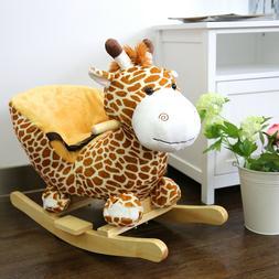 Kids Plush Rocker Baby Play Rocking Horse Style Giraffe Them