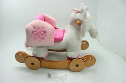 labebe Plush Rocking Horse Pink Ride Elephant Stuffed Toy An