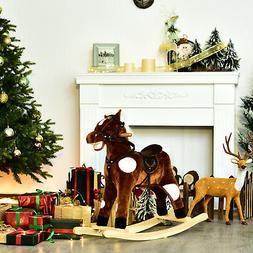 Qaba Plush Rocking Horse Pony Kids Ride On Toy Children Gift