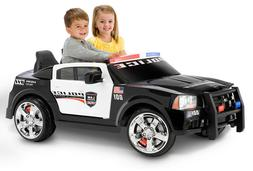 Police Car Ride On Lights Siren Megaphone Electric 12V Batte
