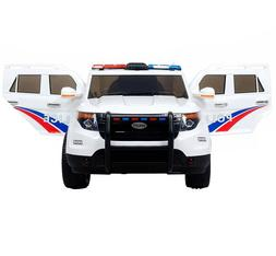 Police Cruiser Ride On Kids Electric Car Toy 12v Vehicle SUV