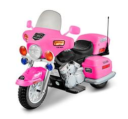 National Products 12V Police Motorcycle - Pink